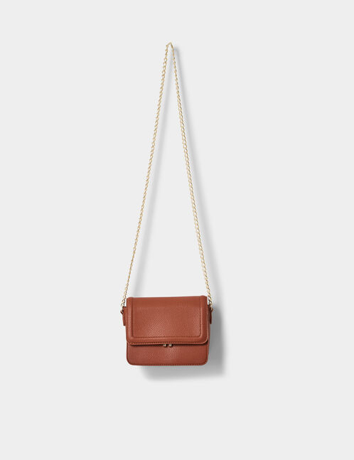 Small rust-coloured crossbody bag