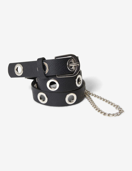 Belt with chain detail