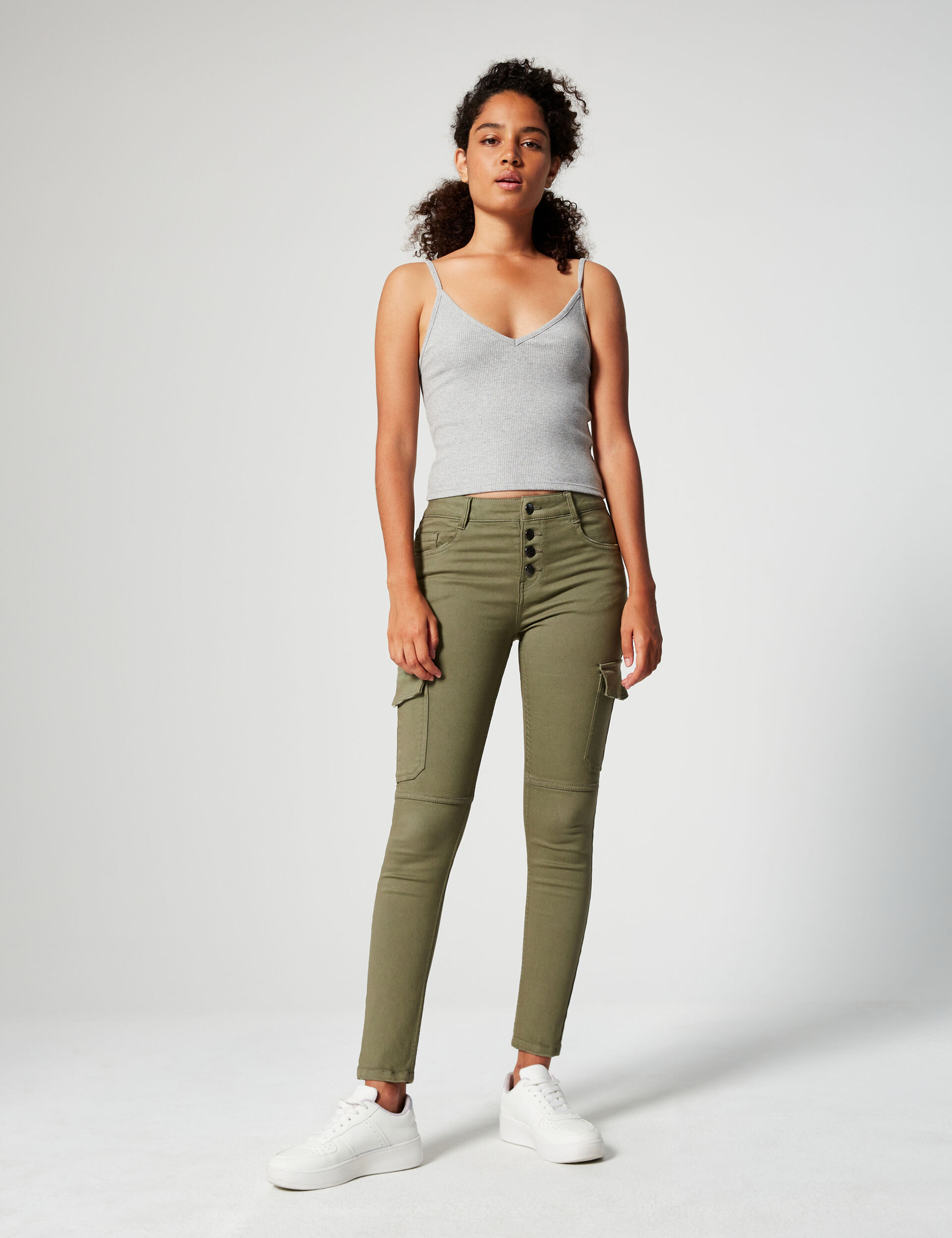 Skinny trousers with pockets