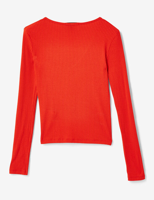 tee-shirt esprit cache-coeur rouge