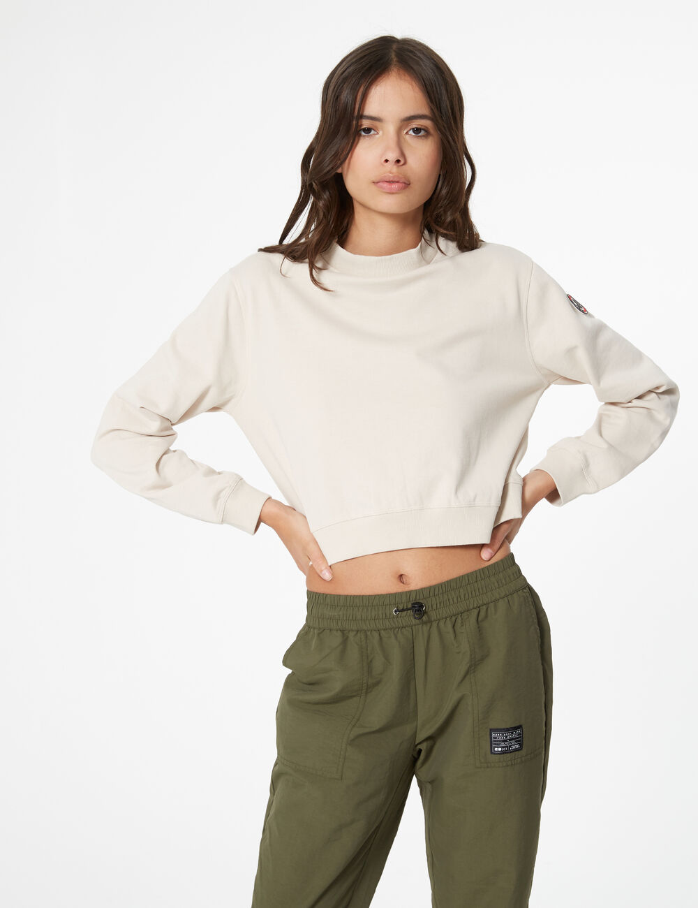 53783afcc sweat basic col montant