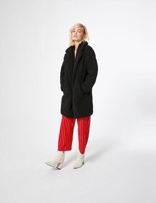 Manteau imitation fourrure