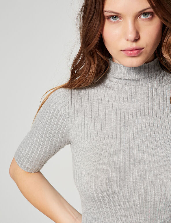 Pull fin manches courtes