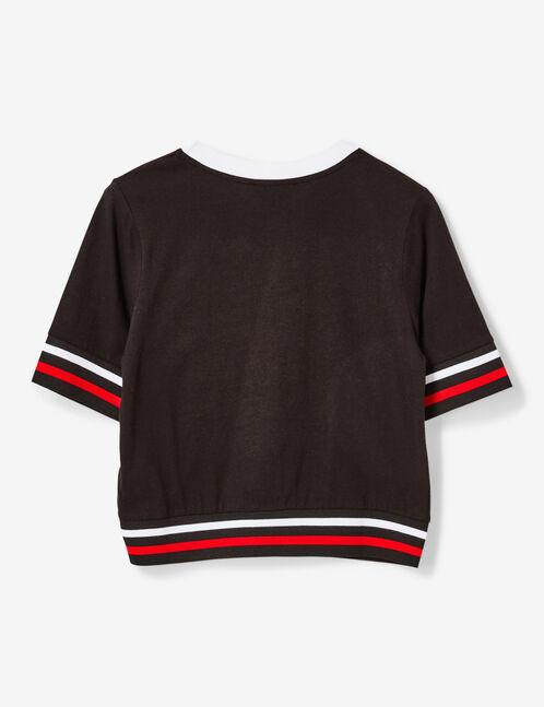 tee-shirt finitions rayées noir