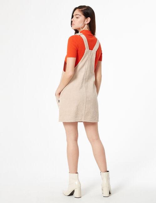velvet ribbed tunic dress