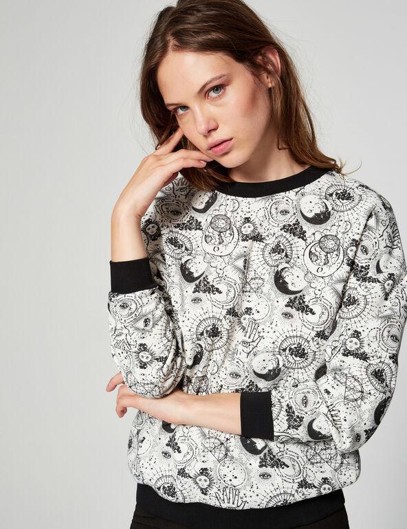 Loose fit printed sweatshirt