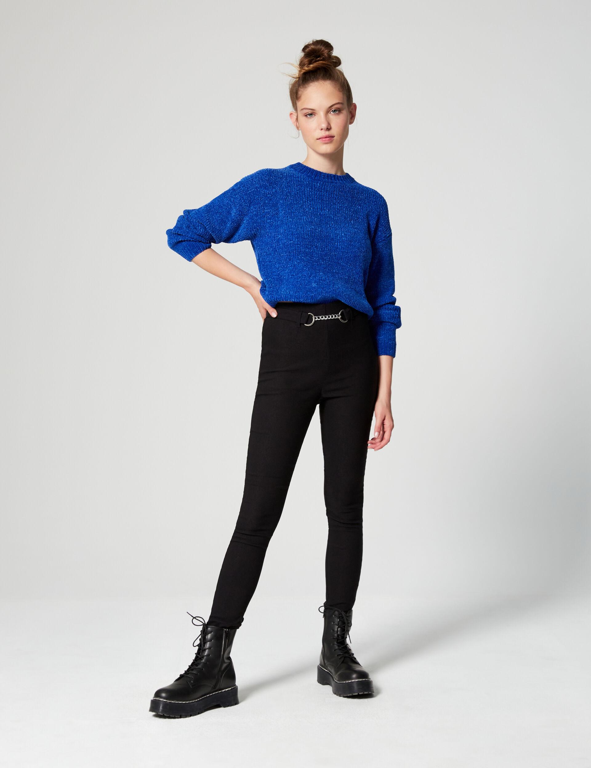 Oversized chenille jumper