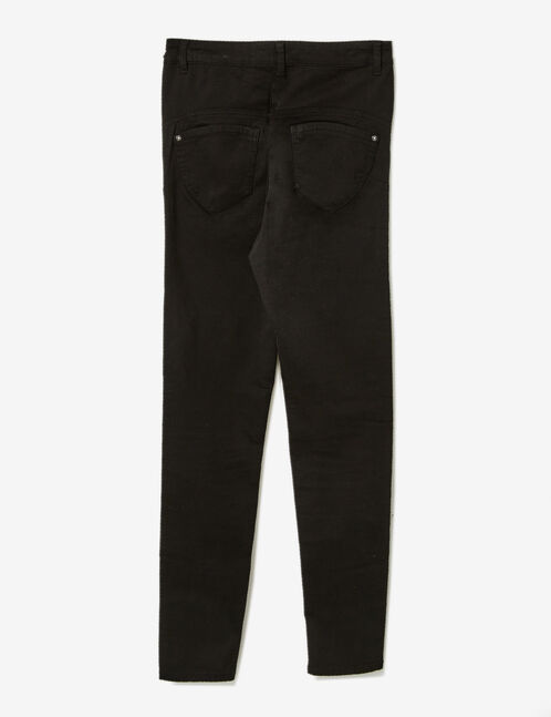 Black high-waisted push-up trousers