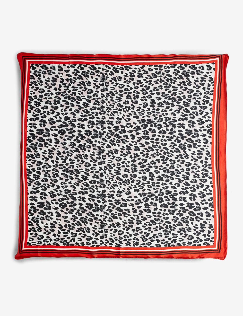 c8f76e35edf Foulard imprimé léopard rouge femme • Jennyfer