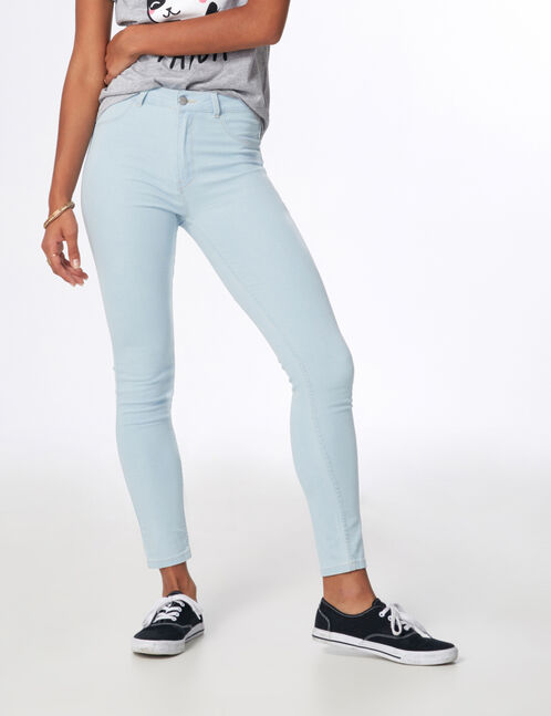 Bleached high-waisted jeggings