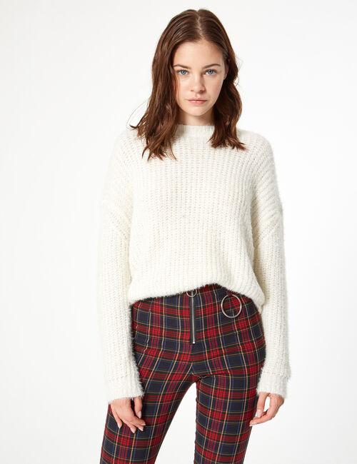 Cropped lurex jumper