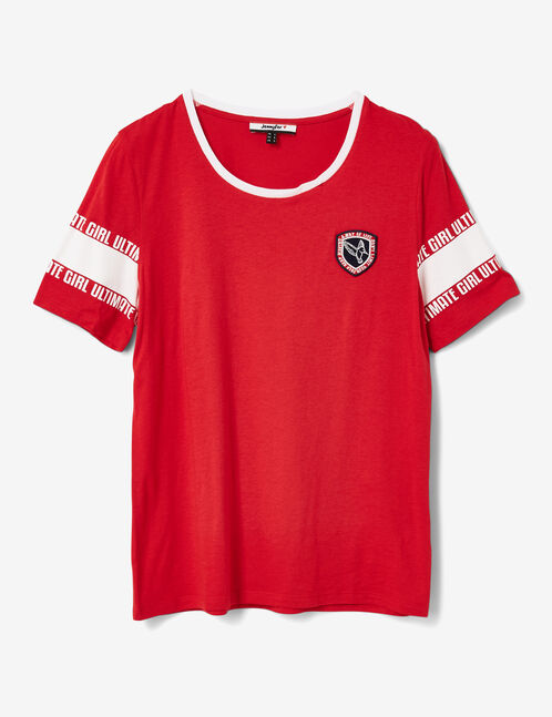 """Red and white """"ultimate girl"""" T-shirt"""