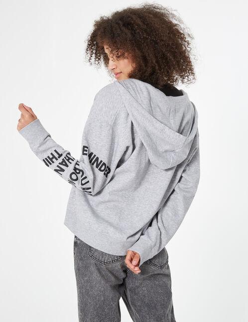 hoodie with slogan