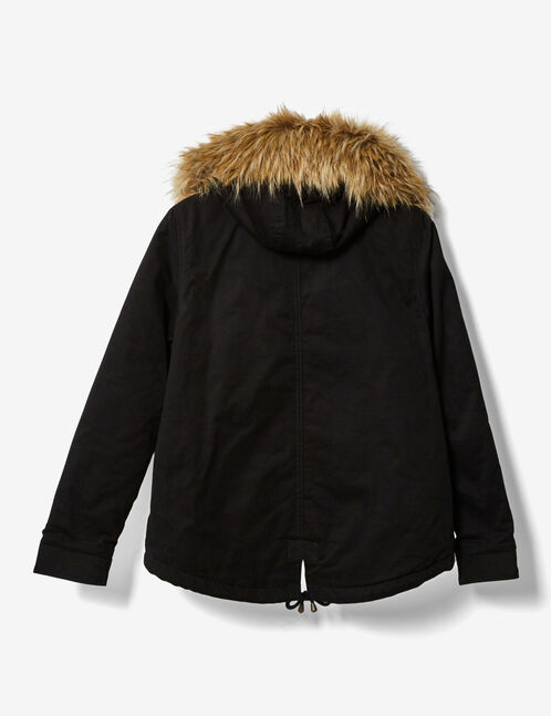 Short black parka