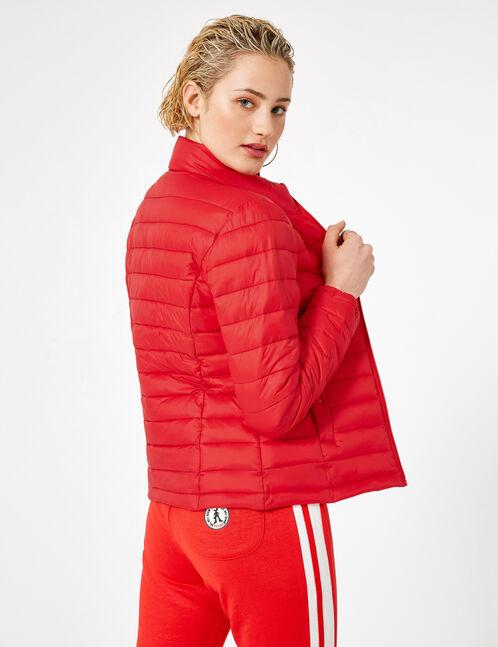 Red lightweight padded jacket