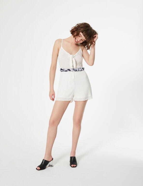 Playsuit with bow