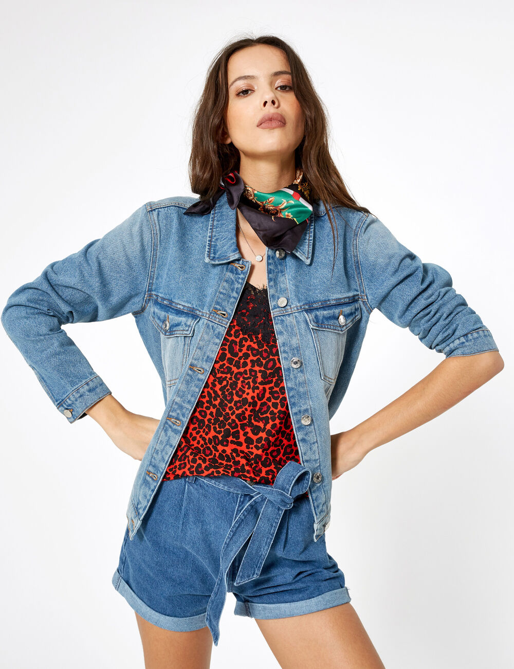 Veste en jean bleu clair femme • Jennyfer