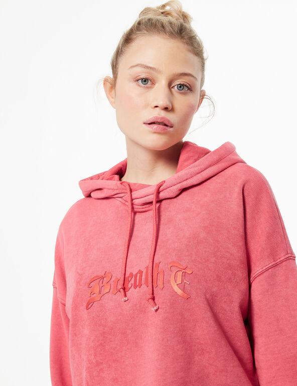 Stonewashed-look hoodie