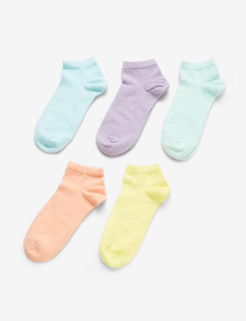Chaussettes couleurs pastel