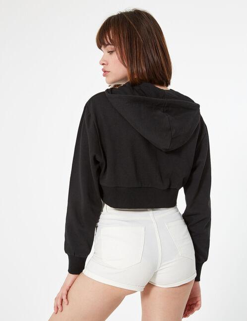 short skinny taille haute blanc