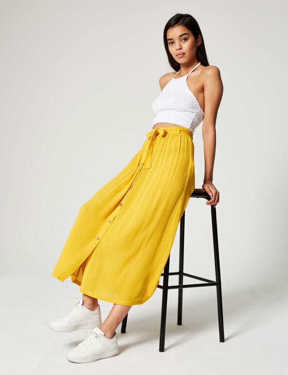 Long crêpe skirt
