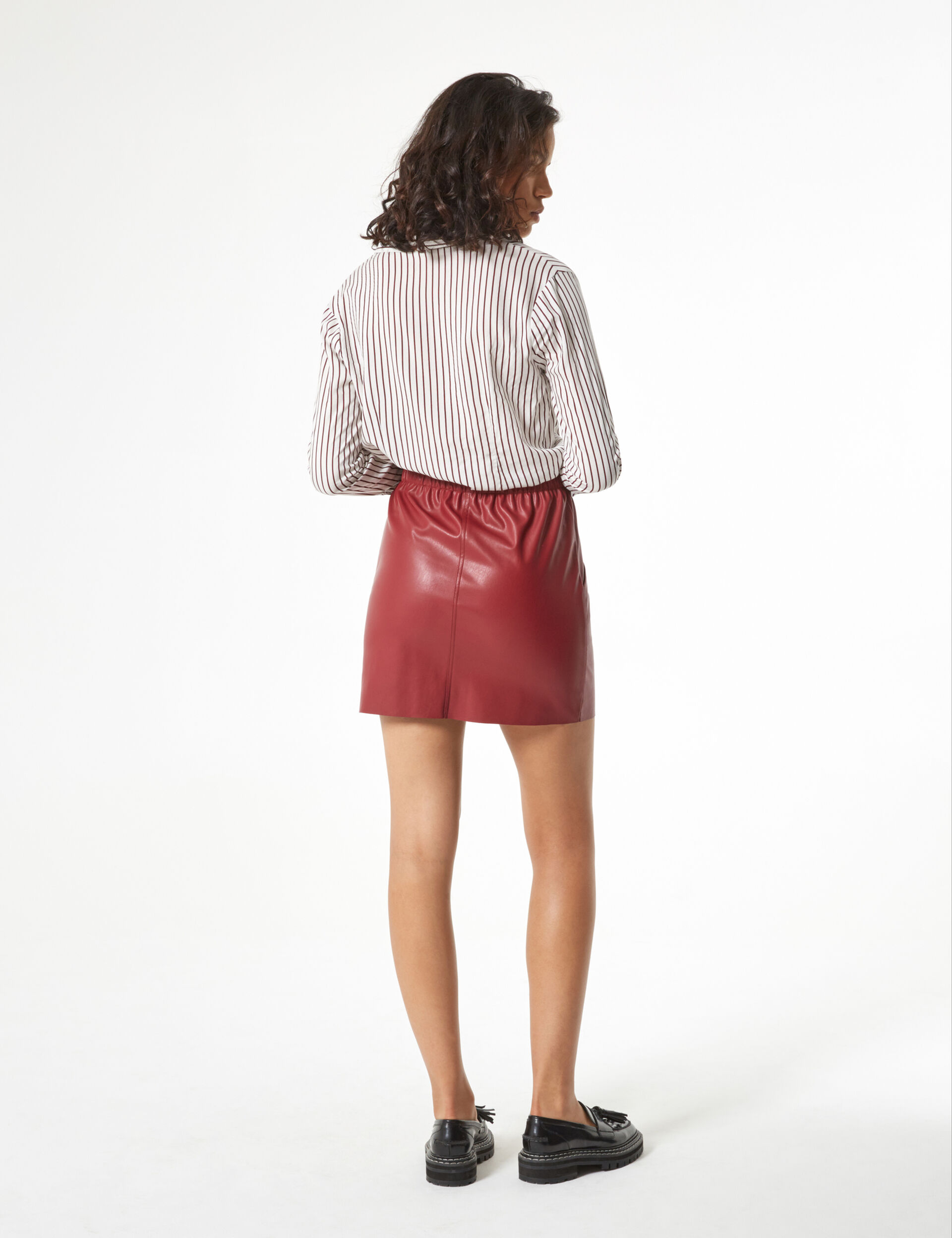 Faux leather skirt with pockets