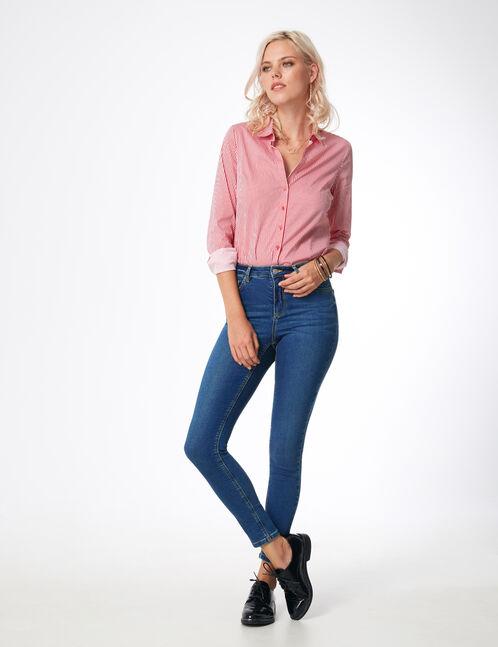 jean super skinny taille haute bleu
