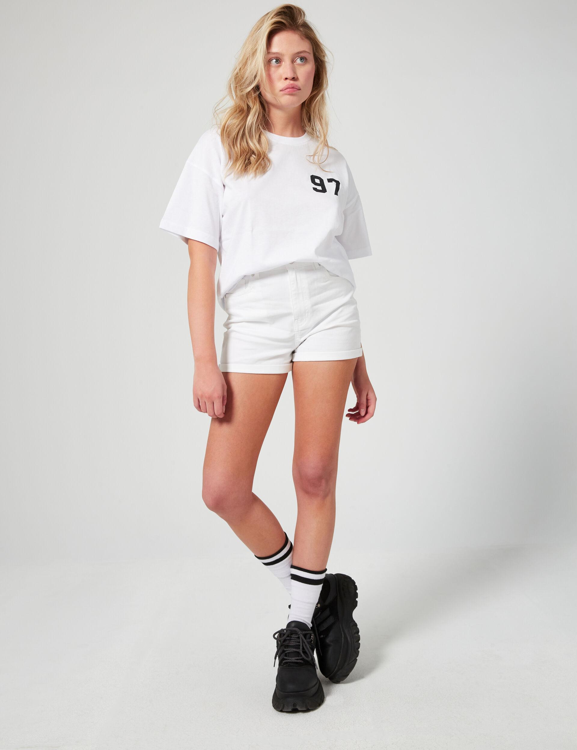 Short skinny taille haute