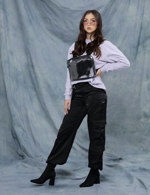 Soldier satin trousers