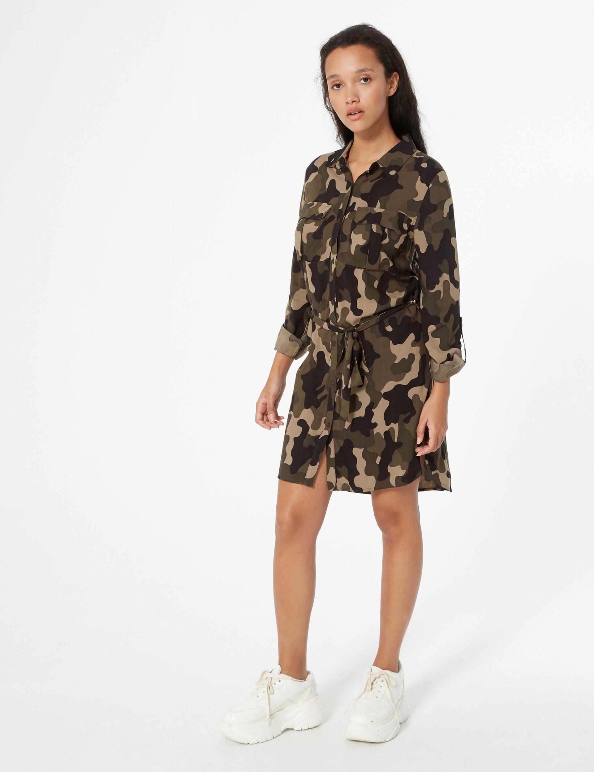 Robe chemise camouflage