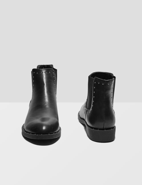 bottines chelsea cloutées noires
