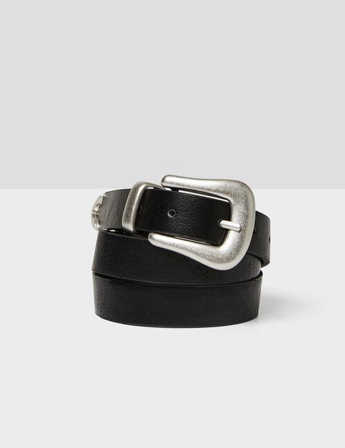 Black belt with gold detail
