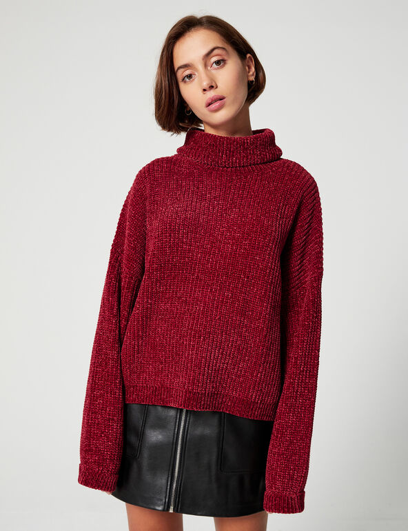 Chenille twist jumper