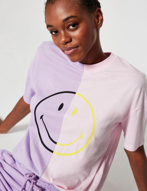 Tee-shirt  bicolore Smiley