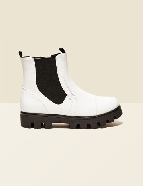 bottines blanches