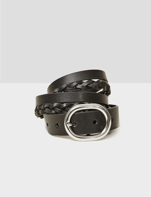 double ceinture noir