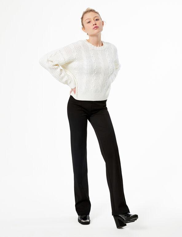 Pullover in maglia a trecce
