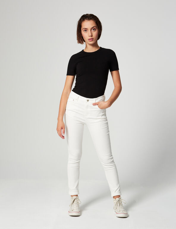 High-waisted push-up jeans