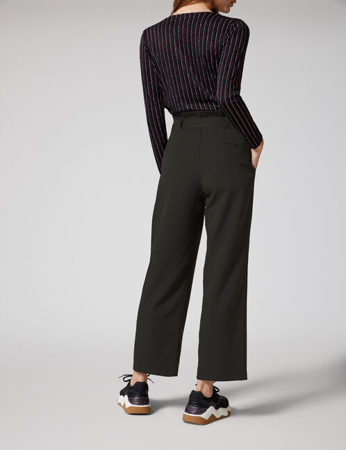 Black paperbag trousers