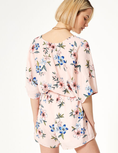 Light pink floral playsuit