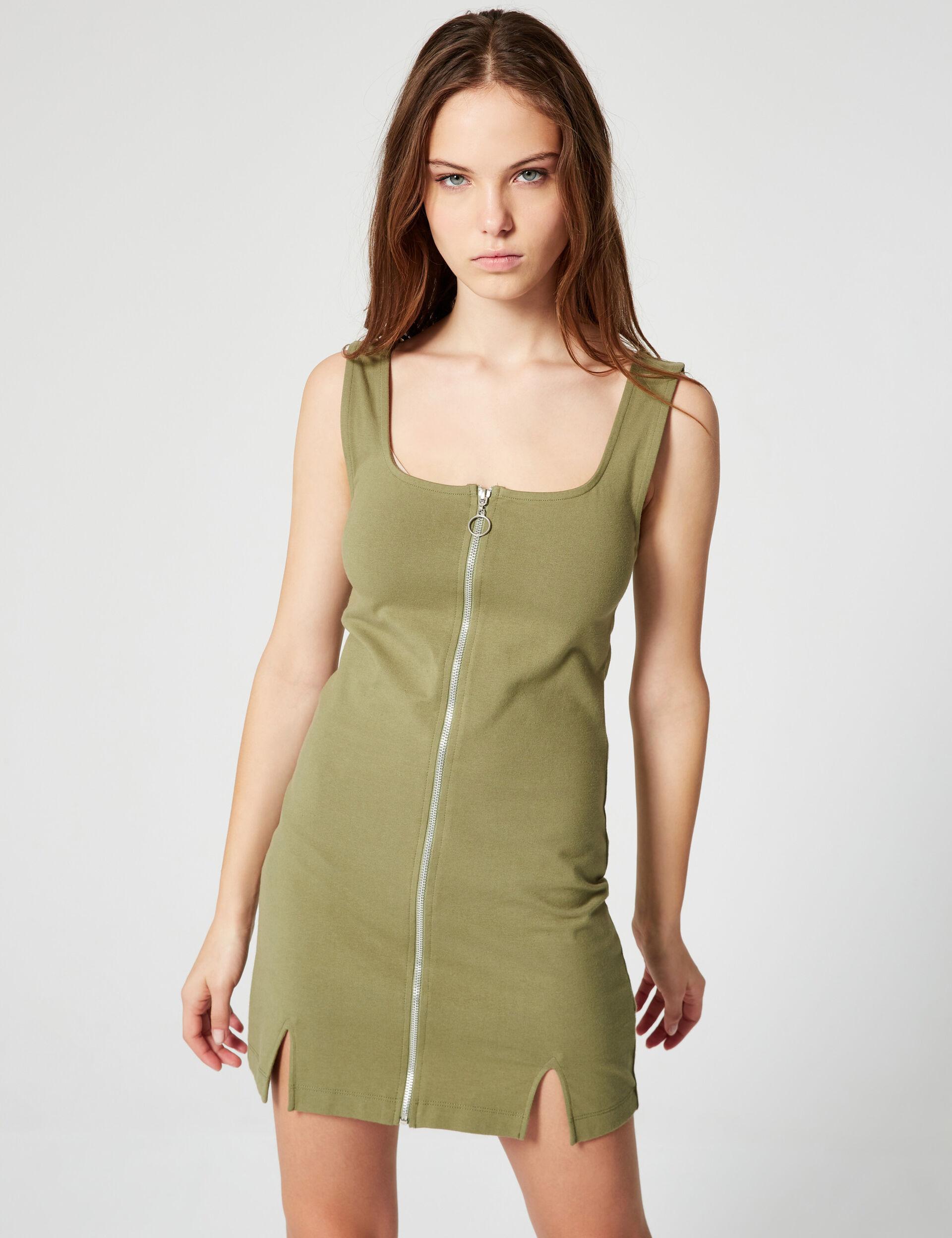 Zipped miniskirt