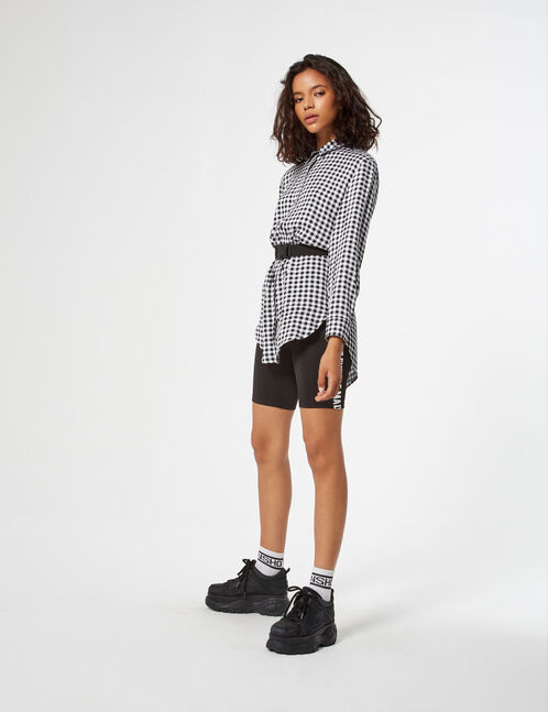chemise longue vichy