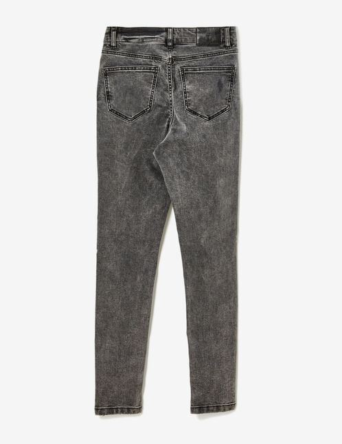 Grey high-waisted jeans
