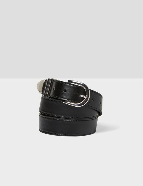 ceinture avec métallerie noire