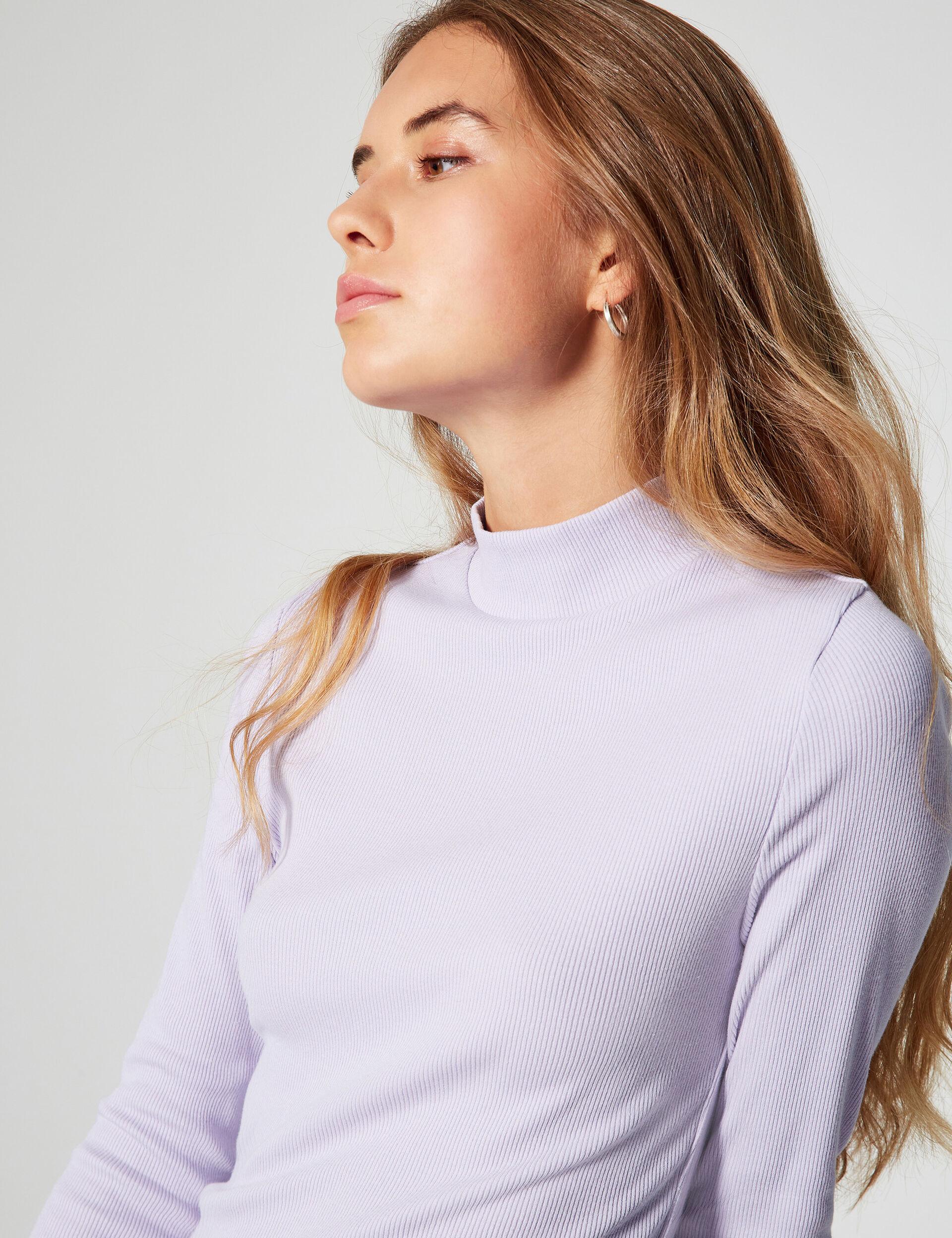 Tee-shirt maille côtelée