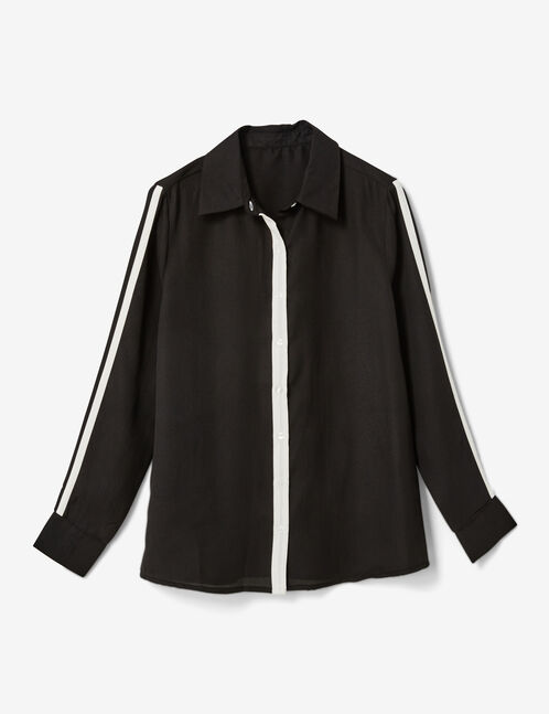 Black shirt with trim detail