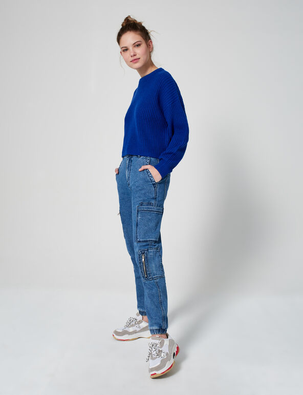 Loose-fit knitted jumper