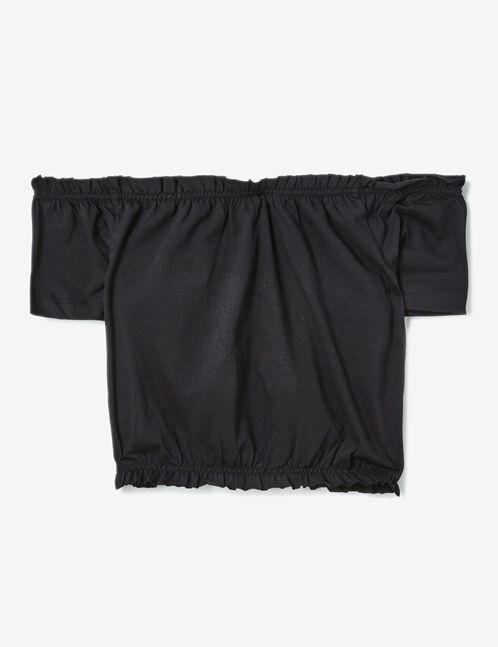 tee-shirt épaules dénudées noir