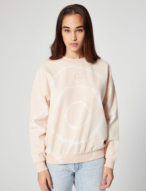 Tie-dye sweatshirt with motifs