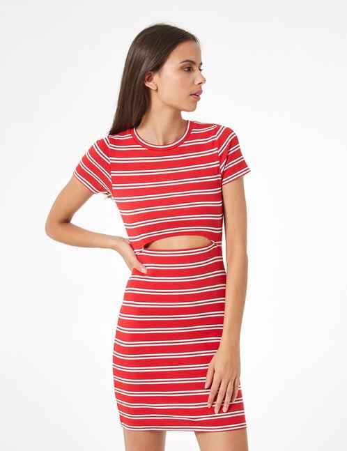 robe ajustée rayée